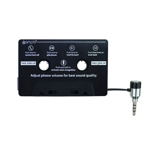 Cassette Adapter with Multi-Function Push Button