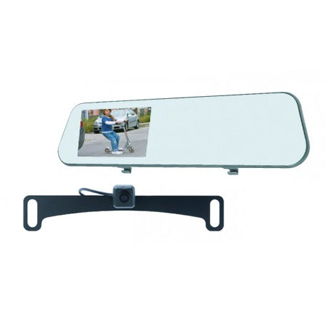 Mirror Monitor And Backup Camera Kit With Built-In Dash Cam