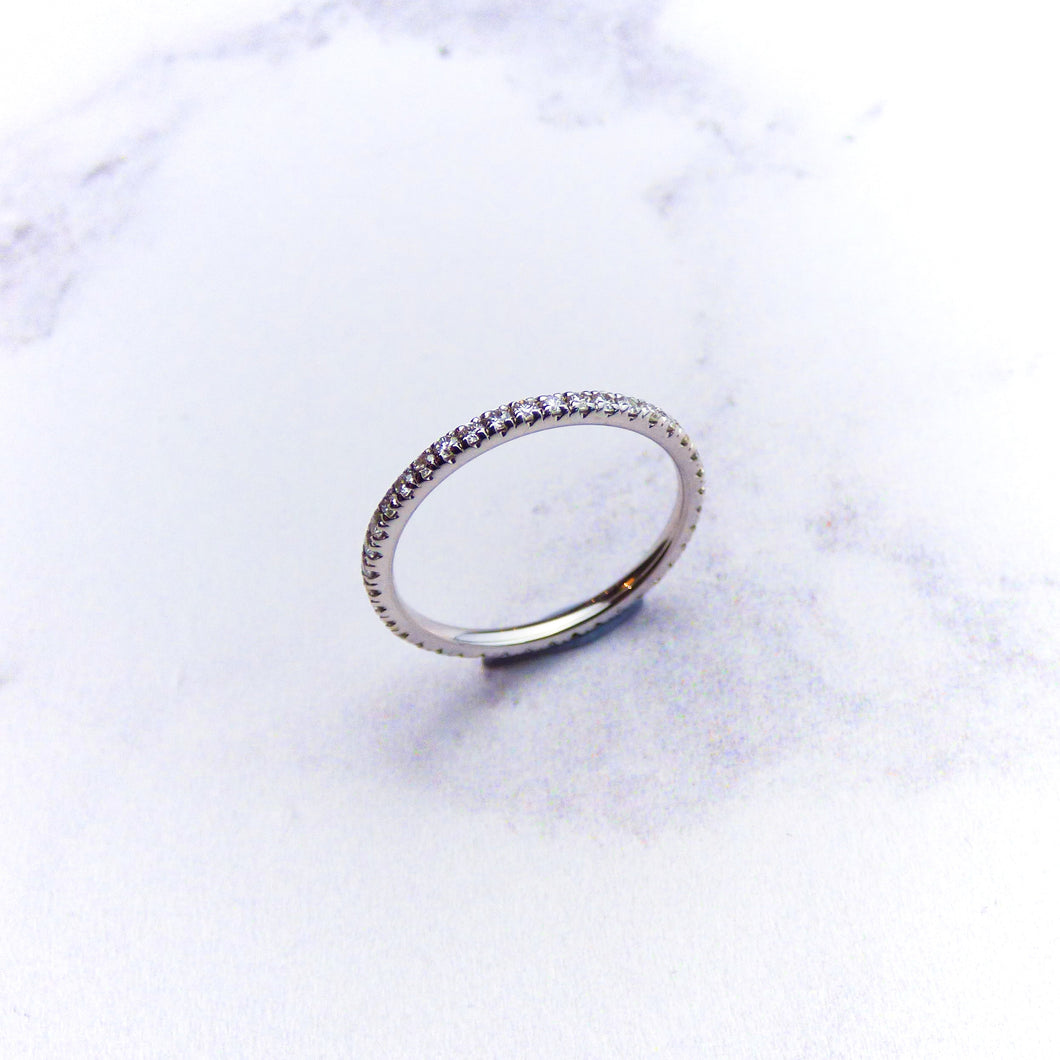 9ct White Gold Full Eternity Ring