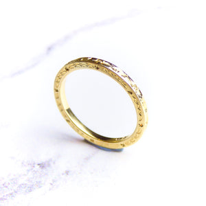 9ct Yellow Gold Engraved Ring