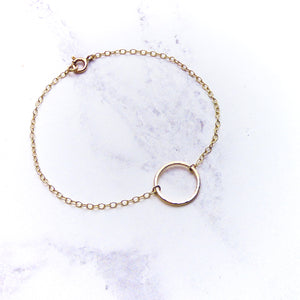 9ct Yellow Gold Circle Bracelet