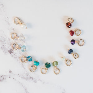 Yellow Gold Birthstone Charms