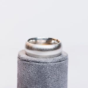 Silver 8mm Plain Court Ring