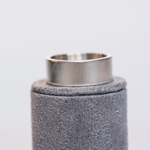 Silver Flat 8mm Ring