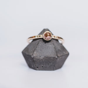 Yellow Gold and Brown Diamond Ring