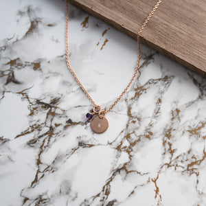 9ct Rose Gold Initial Disc Pendant, Pendant/Necklace - Kirsty Taylor Goldsmiths