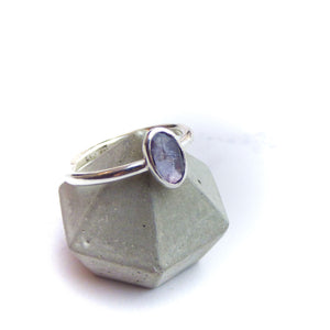 Purple Spinel and Silver Ring