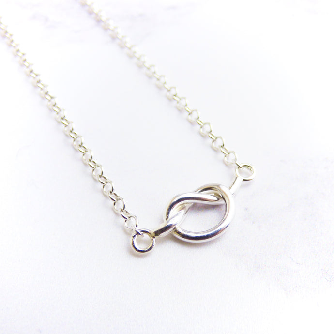 Silver Knot Necklace