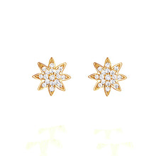 Gold Nova Star Stud Earrings