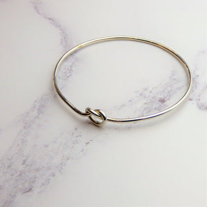 Silver Love Knot Bangle