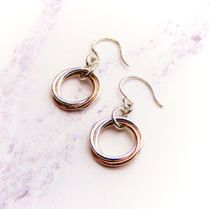 Silver Russian Knot Earrings