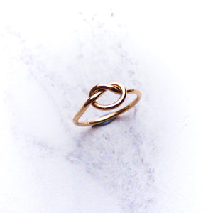 9ct Rose Gold Knot Ring