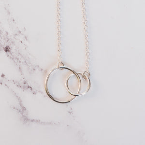 Plain Silver Double Circle Pendant