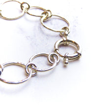 Silver Circle hammered bracelet