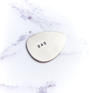 Silver Personalised Plectrum