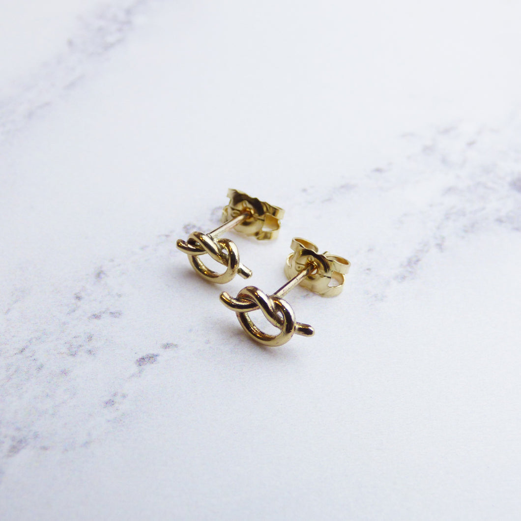9ct Yellow Gold Knot earrings