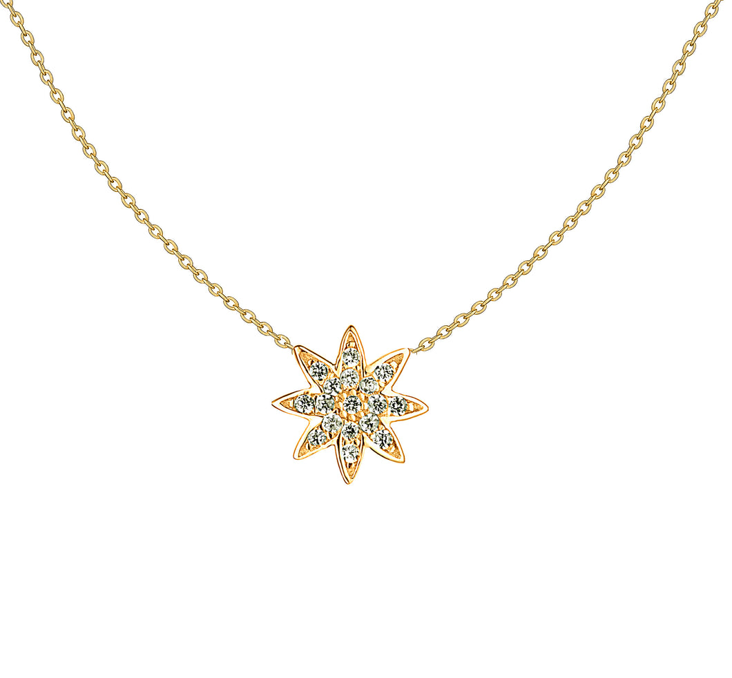 Gold Nova Star Pendant