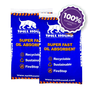 100% Sustainable oil absorbent 2x10kg bag - Clean By Nature