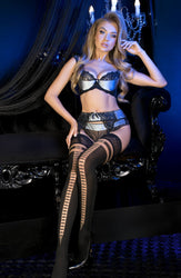 Lace-up Design Thigh High Stockings