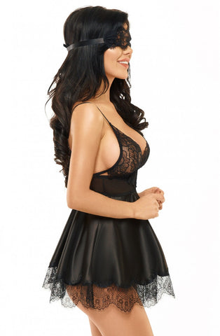 Image of Eve Babydoll, Black