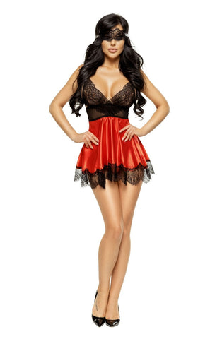 Image of Eve Babydoll, Red