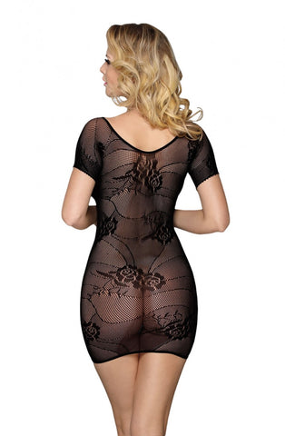 Image of Black Lace Mini Dress