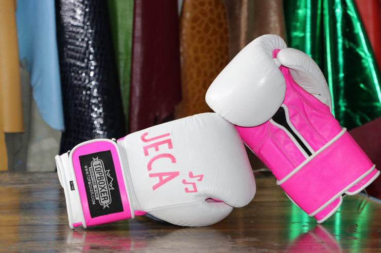 SALE: 10oz Win1 (One Available) Boxing Gloves Pink White