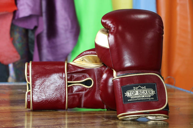 Maroon Win1 Boxing Gloves