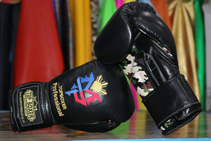 Win1 (Pacquiao Black Camo) Boxing Gloves
