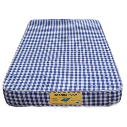 Rwanda Foam Double Mattress with Cover with Tape Density 20 (190x120x20)