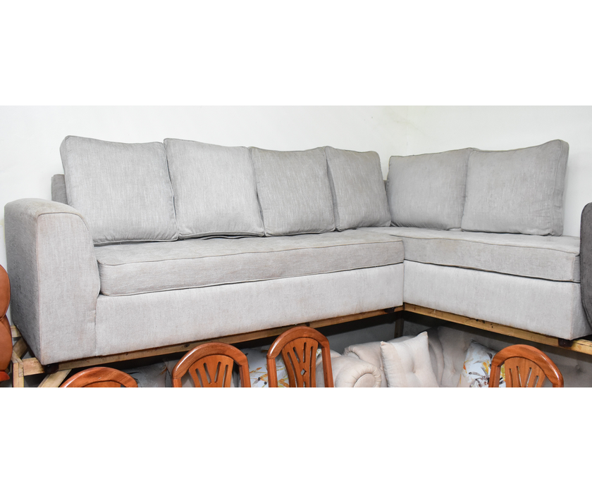 Gray Sofa of 3 chair with table and 2 small extra tables