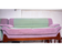 Green with purple Sofa of 3 chair with table and 2 small extra tables