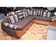 Chocolate Sofa of 3 chairs with table and 2 small extra tables