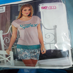Sevim Ladies home  wear complete( T-shirt with it's short)