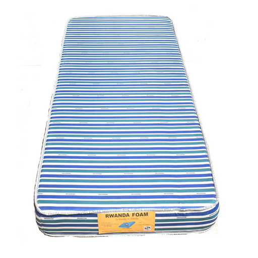 Single Mattress with Cover with Tape Rwanda foam Density 18 190x90x15