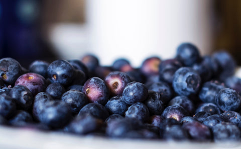 Fresh blueberries rich in antioxidants and great at making your skin glow