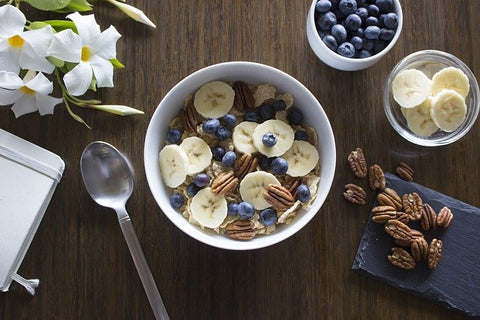 Banana at breakfast for glowing skin