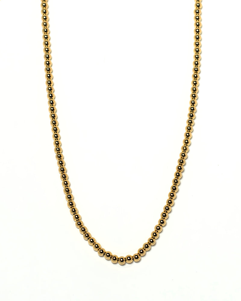gold necklace bead minimalist modern trendy near me shop online boutique jewelry