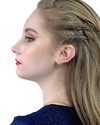 lauren cz huggie earrings
