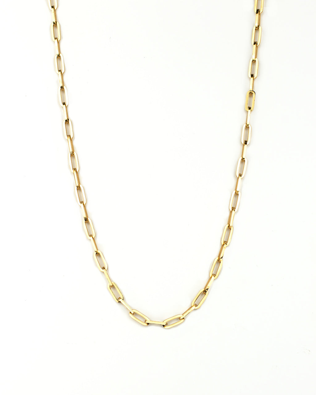 maibritt rectangle link chain necklace 18k gold plated stainless steel layering