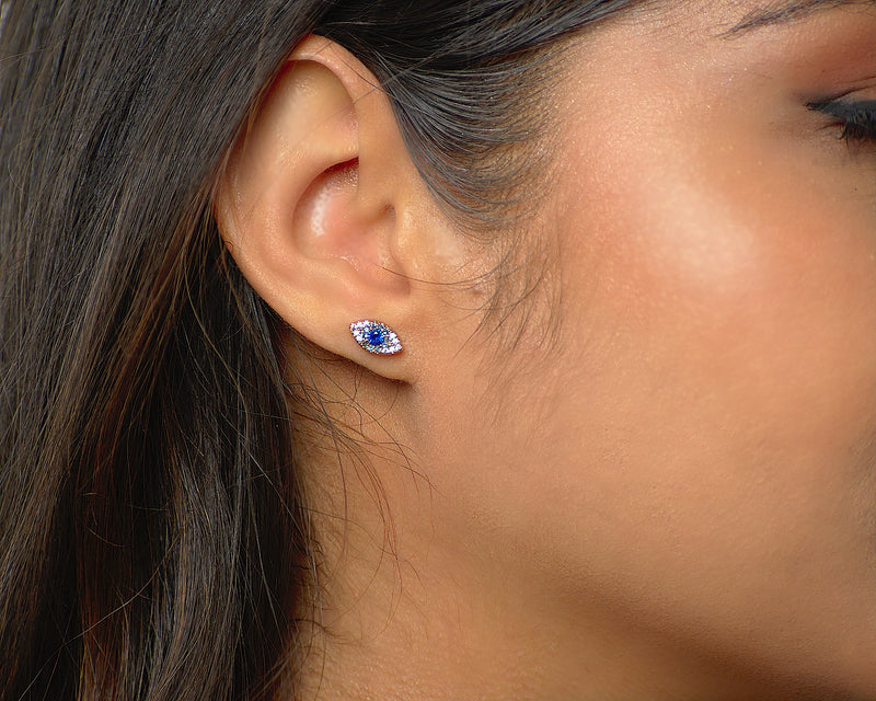 evil eye stud earrings affordable trendy online jewelry