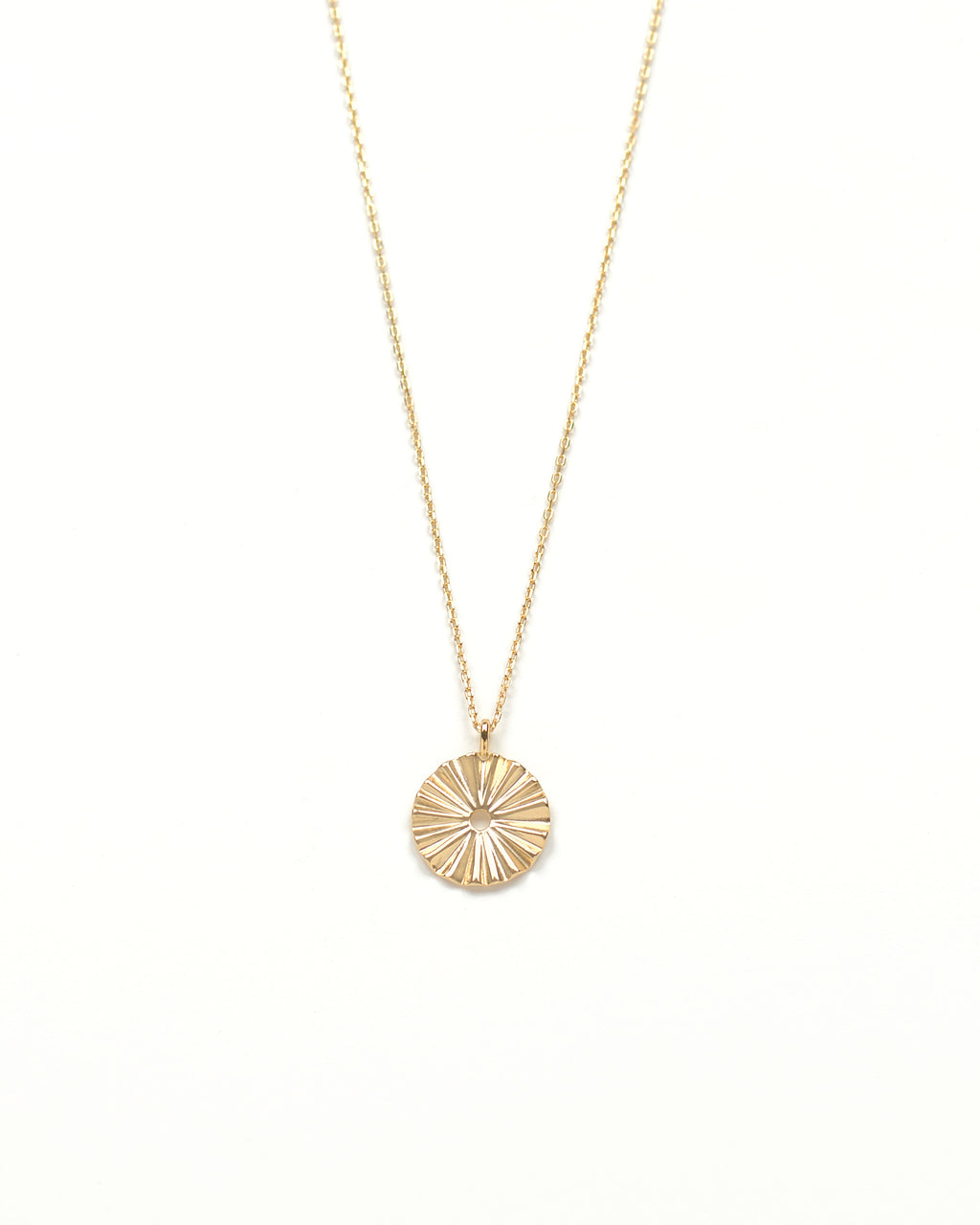 18k gold plated sterling silver sunshine medallion necklace