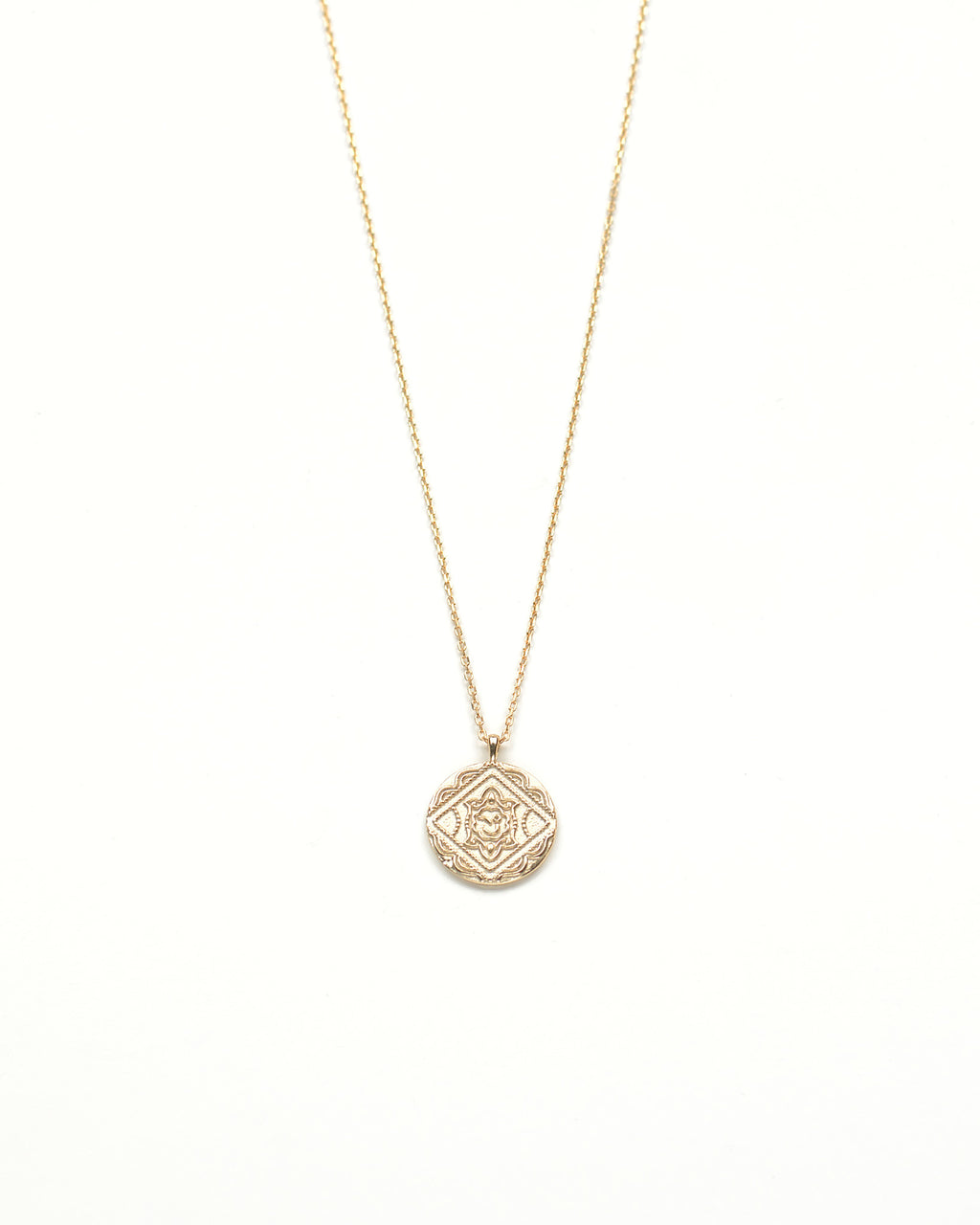 18k gold plated sterling silver medallion and necklace