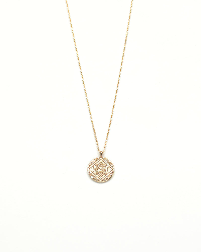 18k gold plated sterling silver medallion and necklace trendy affordable minimalist demifine