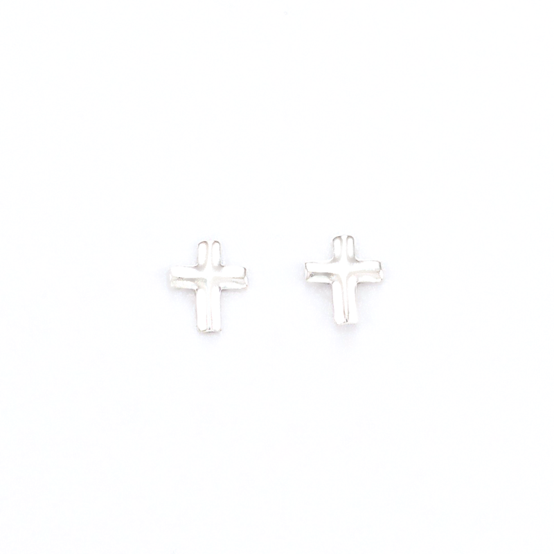 cross sterling silver stud earrings girls jewelry affordable