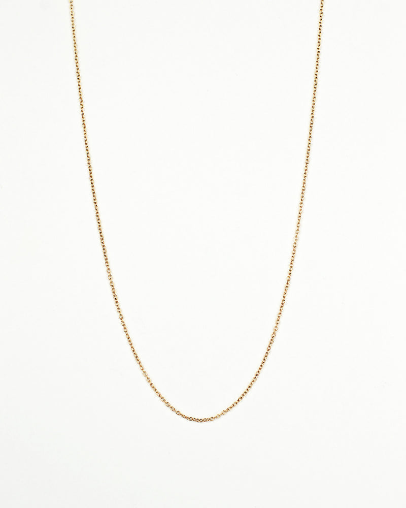 18k gold plated stainless steel cable box necklace