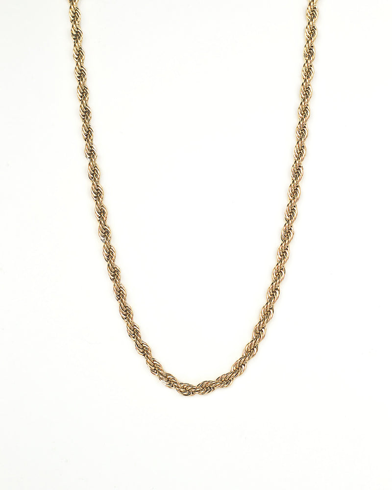 18 inch twisted 18k gold plated sterling silver chain