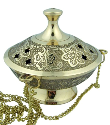 Charcoal Incense Burner (Machtah) -  Hanging Censer with Chain