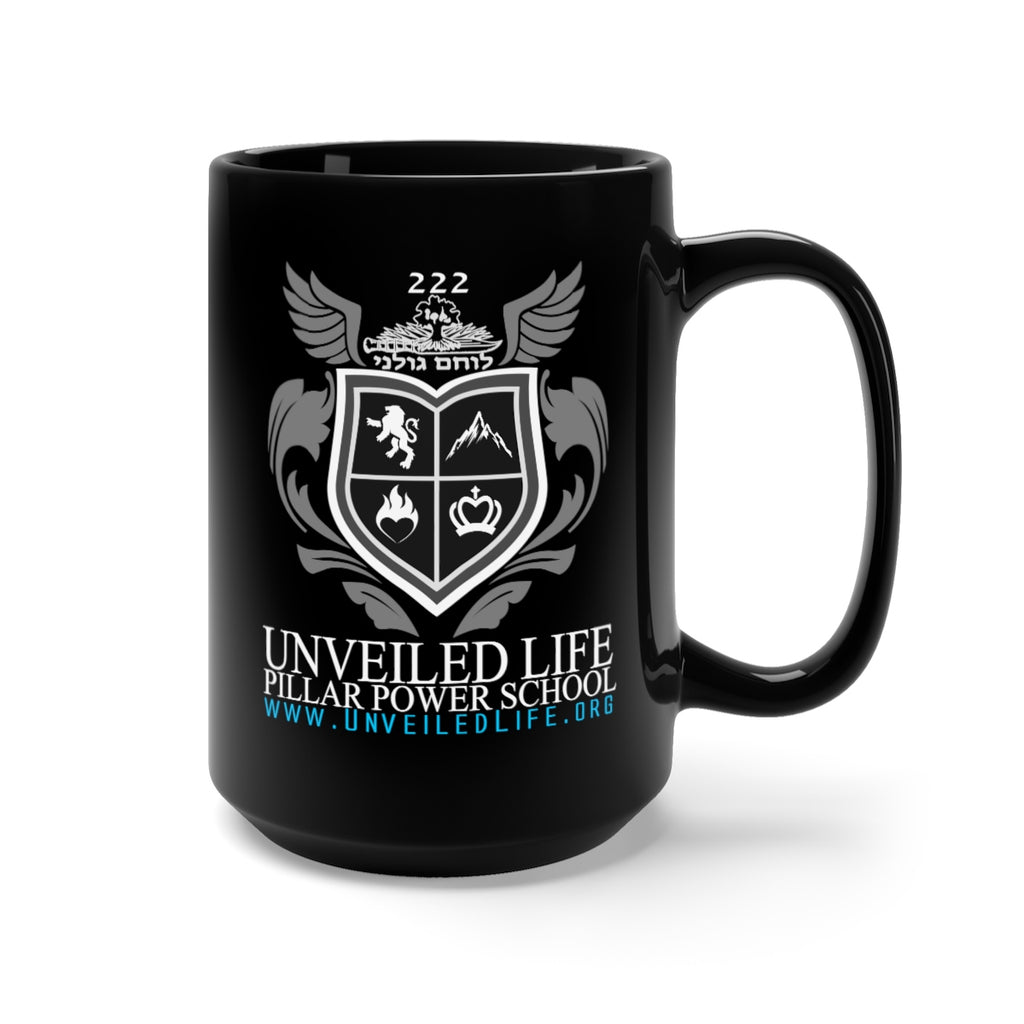 Unveiled Life Pillar Power School - Black Mug 15oz