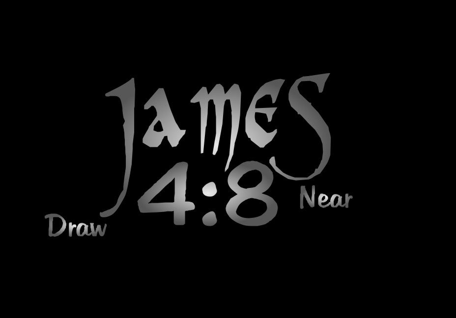 "Cover-up Decal for Goggles - James 4:8 ""Draw Near"""